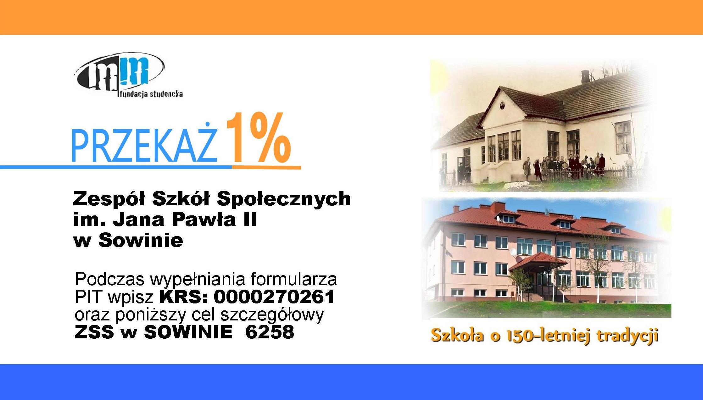 1 % na szkołę